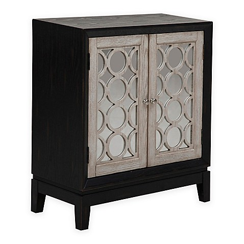 Buy meridian pulaski levi wood 2 door cabinet in silver for Meridian cabinet doors