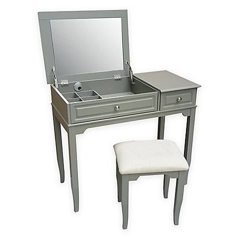 Buy Emily Bathroom Vanity Set With Stool In Grey From Bed