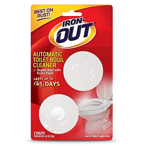 Iron Out 2 Pack Automatic Toilet Bowl Cleaner Bed Bath