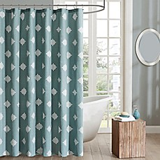 image of Ink & Ivy Shelby Shower Curtain