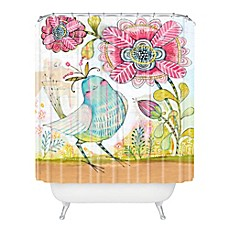 Deny Designs Cori Dantini I Love You More Shower Curtain In Pink