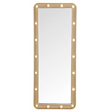 image of Door Solutions™ LED Light-Up Over-The-Door Marquee Mirror
