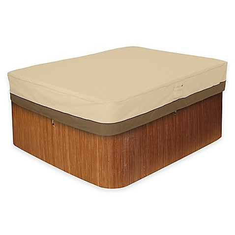 buy classic accessories veranda medium rectangle hot tub cover from bed bath beyond. Black Bedroom Furniture Sets. Home Design Ideas
