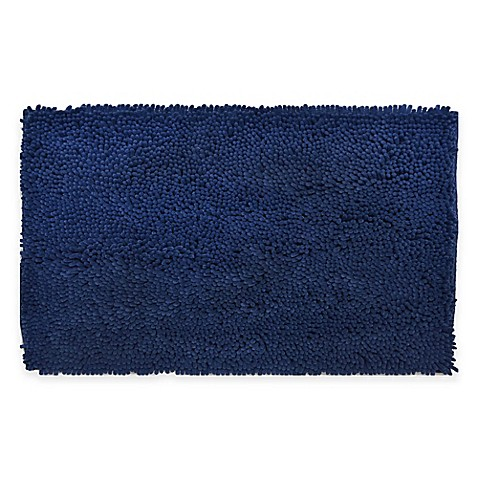Bath Rugs Accent Rugs Bed Bath Beyond - Navy bath runner for bathroom decorating ideas