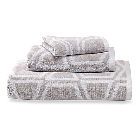 Kate spade new york bow tile bath towels bed bath beyond for Bed bath and beyond kate spade