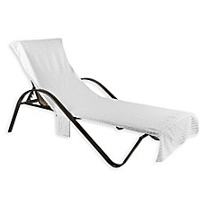 image of Chaise Lounge Cover in White