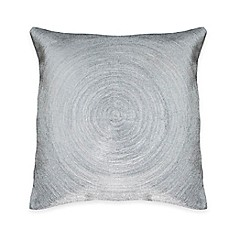 image of Austin Horn® Classics Spiral Embroidery Square Throw Pillow in Silver