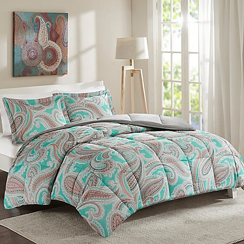 buy intelligent design paola twin twin xl 2 piece duvet cover set in aqua from bed bath beyond. Black Bedroom Furniture Sets. Home Design Ideas