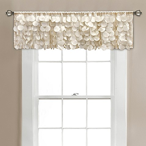 Buy gigi 70 inch x 14 inch window valance in ivory from for 14 inch window