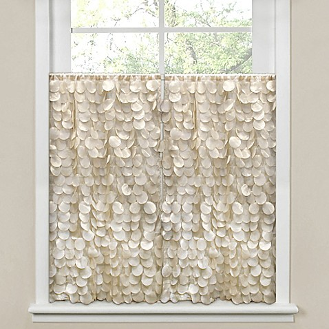Gigi Bath Window Curtain Panel Pair in Ivory - Bed Bath & Beyond