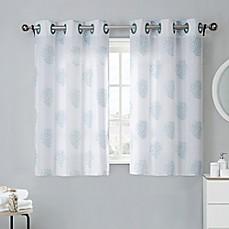 Coral Reef 38 Inch Bath Window Curtain Tier Pair In Grey Mist