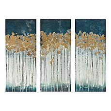 Wall art canvas wall art modern wall art bed bath beyond madison park midnight forest 3 piece canvas wall art gumiabroncs Image collections
