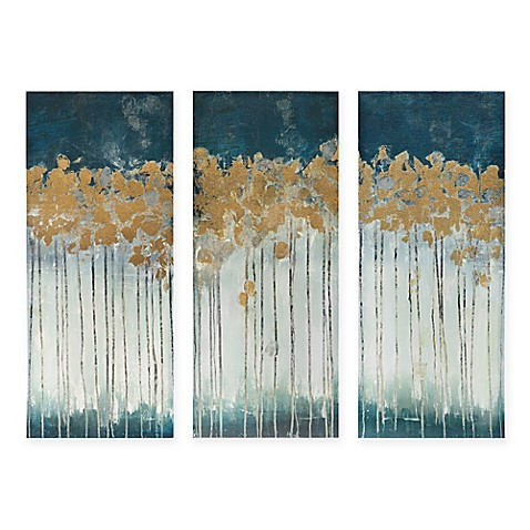 Image Of Madison Park Midnight Forest 3 Piece Canvas Wall Art Part 59