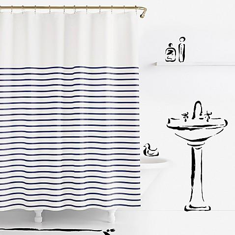 kate spade new york harbour stripe shower curtain - bed bath & beyond