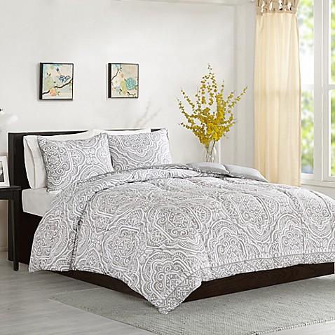 . Intelligent Design Nitza Comforter Set in Grey   Bed Bath   Beyond