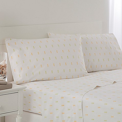 Buy southern tide pineapple twin sheet set in green from for Southern tide bedding