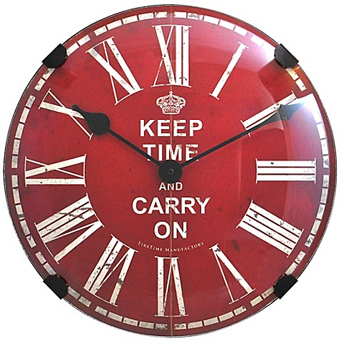 FirsTime® Keep Time Dome Wall Clock