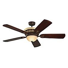 Ceiling fans white fans bloom fans bronze fans bed bath beyond emerson braddock 54 inch 6 light ceiling fan in venetian bronzedark mahogany publicscrutiny Choice Image