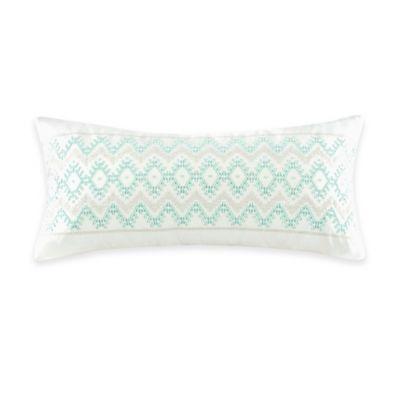 Echo Design Throw Pillows : Echo Design Kalea Embroidered Oblong Throw Pillow in White - Bed Bath & Beyond