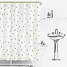 Lovely Kate Spade New York Deco Dot Shower Curtain