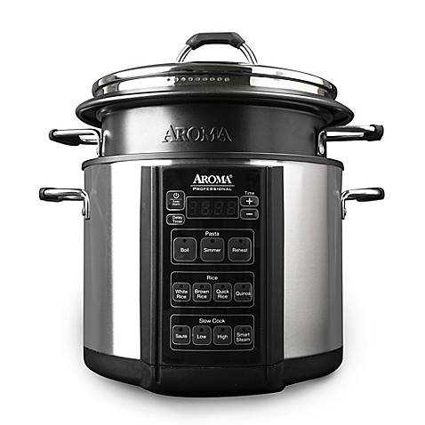 aroma professional 6 qt pasta and rice cooker bed bath. Black Bedroom Furniture Sets. Home Design Ideas