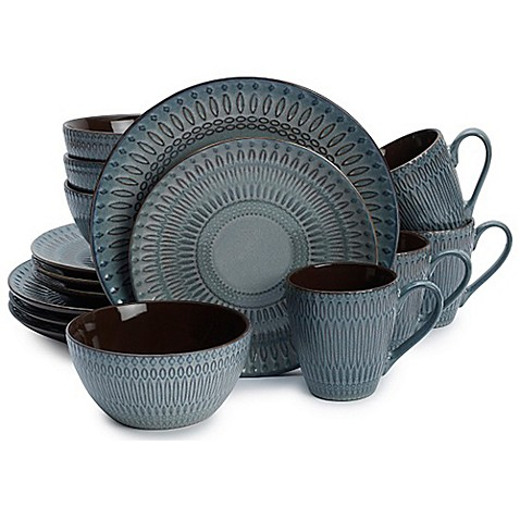 Gourmet Basics by Mikasa® Broadway 16-Piece Dinnerware Set  sc 1 st  Bed Bath u0026 Beyond : mikasa linden dinnerware - pezcame.com