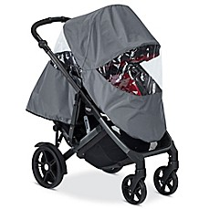 image of BRITAX B-Ready® Full Rain Cover for Double Frame Strollers