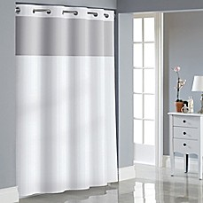 image of Hookless Stripe Jacquard Shower Curtain