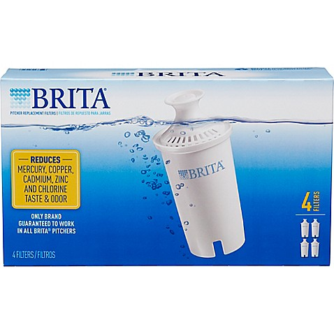 Brita® 4-Pack Replacement Filters - Bed Bath & Beyond