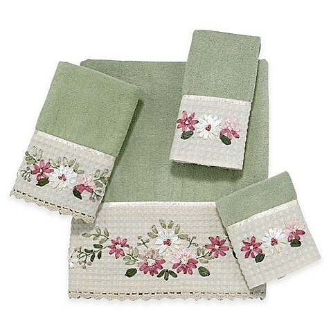 buy avanti victoria hand towel in sage from bed bath beyond. Black Bedroom Furniture Sets. Home Design Ideas