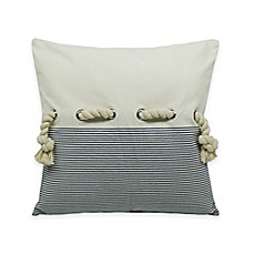 image of Newport Rope Embellished Square Throw Pillow