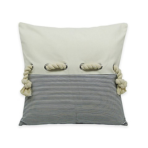 Newport Decorative Pillow : Newport Rope Embellished Square Throw Pillow - Bed Bath & Beyond