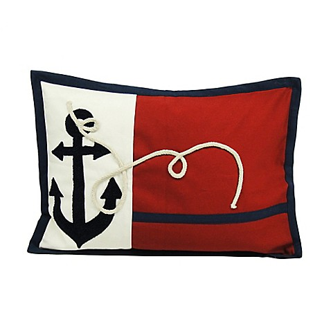 Throw Pillows By Newport : Newport Droque Anchors Flag Throw Pillow - Bed Bath & Beyond