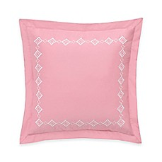 image of dena home palm court european pillow sham in pink