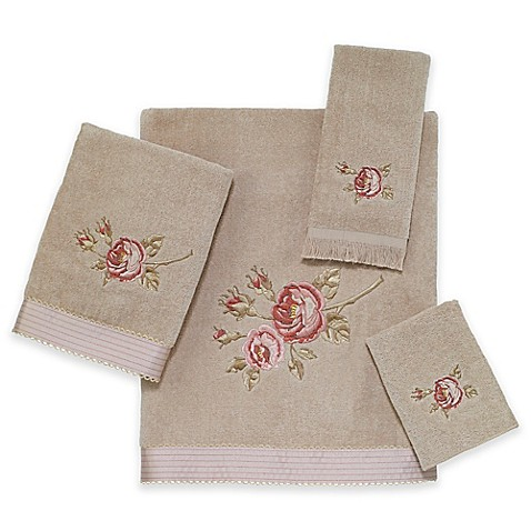 Buy Rose Chic Fingertip Towel In Linen From Bed Bath Beyond