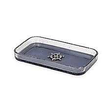 image of Anchors Ombre Bubble Glass Tray