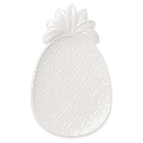 Lenox® British Colonial Carved® Pineapple Tray in White