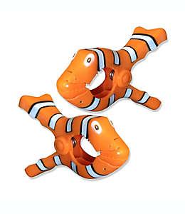 Pinzas para toalla Boca Clips®, con forma de pez payaso, Set de 2