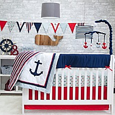 image of Pam Grace Creations Anchors Away 6-Piece Crib Bedding Set