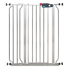 image of Regalo® Easy-Step Extra-Tall Walk-Through Gate in Platinum
