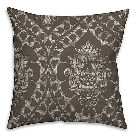 Buy Ornate Tapestry 18-Inch Square Throw Pillow in Beige/Brown from Bed Bath & Beyond