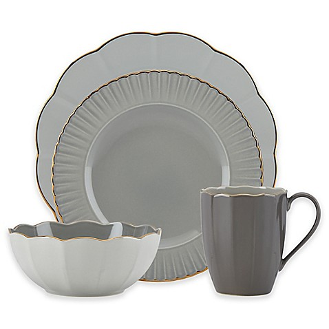 Marchesa by Lenoxu0026reg; Shades of Grey Dinnerware Collection  sc 1 st  Bed Bath u0026 Beyond & Marchesa by Lenox® Shades of Grey Dinnerware Collection - Bed Bath ...