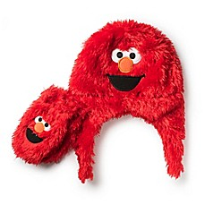 Image Of Sesame Street 2 Piece Toddler Elmo Furry Hat And Mitten Set In