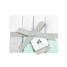 image of Just Born Sparkle Washcloths 4-Pack in Mint Green