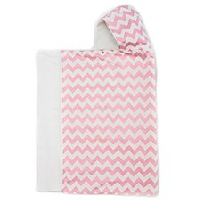 image of Bella Bundles™ Snap Hooded Towel in Pink Chevron