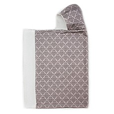 image of Bella Bundles™ Snap Hooded Towel in Grey Damask