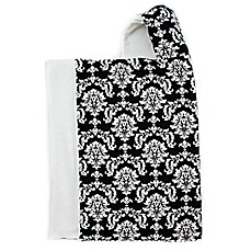 image of Bella Bundles™ Snap Hooded Towel in Black Damask