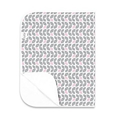 image of kushies® Deluxe Flannel Changing Pad in Petal Grey