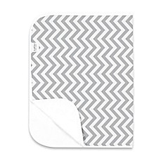 image of kushies® Deluxe Flannel Chevron Changing Pad in Grey