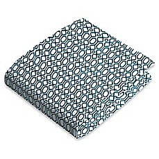 image of kushies® Flannel Portable Play Pen Fitted Sheet in Octagon Navy